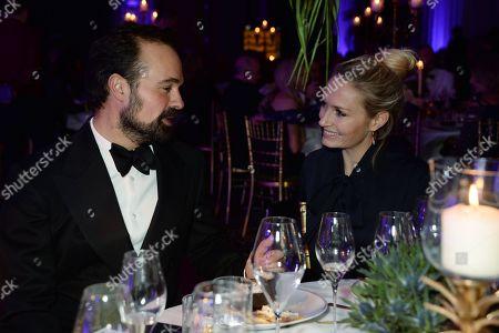 Evgeny Lebedev and Sofia Wellesley