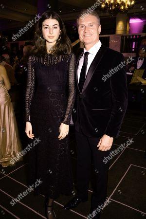 Stock Photo of Karen Minier and David Coulthard