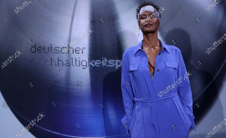 Stock Image of The Somali-Austrian model Waris Dirie attends the German Sustainability Award 'Deutscher Nachhaltigkeitspreis' at Maritim Hotel in Duesseldorf, Germany, 22 November 2019.