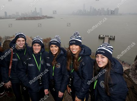 Limerick's Niamh Mulcahy, Galway's Ailish O'Reilly, Galway's Noreen Coen, Galway's Heather Cooney and Cork's Amy O'Connor