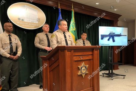 Editorial photo of California School Threat Arrest, Los Angeles, USA - 22 Nov 2019