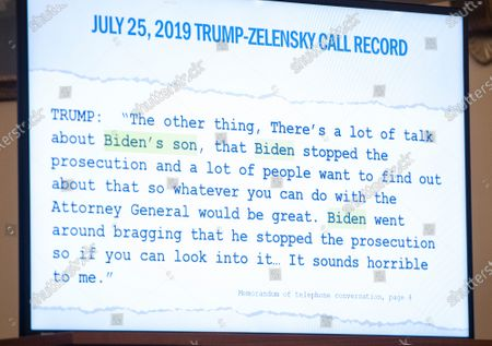 Exhibit concerning the Bidens shown during the questioning of Dr. Fiona Hill, former Senior Director for Europe and Russia, National Security Council (NSC), and David A. Holmes, Political Counselor, United States Embassy in Kiev, Ukraine, on behalf of US Department of State, as they testify