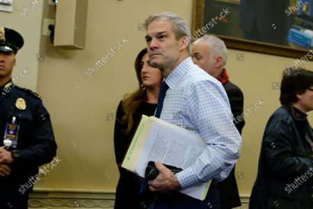 United States Representative Jim Jordan (Republican of Ohio) arrives to hear the testimony of Dr. Fiona Hill, former Senior Director for Europe and Russia, National Security Council (NSC), and David A. Holmes, Political Counselor, United States Embassy in Kiev, Ukraine, on behalf of US Department of State,