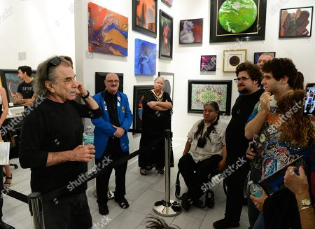 Editorial photo of Mickey Hart presents art work at The Wentworth Gallery, Florida, USA - 22 Nov 2019