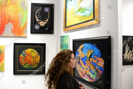 Editorial image of Mickey Hart presents art work at The Wentworth Gallery, Florida, USA - 22 Nov 2019
