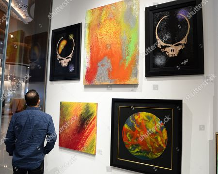 Editorial picture of Mickey Hart presents art work at The Wentworth Gallery, Florida, USA - 22 Nov 2019