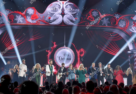 Stock Photo of Brett Young, Tori Kelly, Charles Kelley, Dave Haywood, Hillary Scott, Trisha Yearwood, Gary LeVox, Joe Don Rooney, Jay DeMarcus, CeCe Winans and Kristin Chenoweth