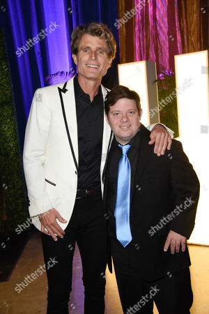 Stock Picture of Anthony Shriver and Zack Gottsagen