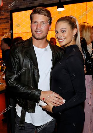 Raul Richter (L) and his girlfriend Vanessa Schmitt attend the after party of the International Music Award (IMA) 2019 in Berlin, Germany, 22 November 2019 (issued 23 November 2019). The IMA recognizes the efforts of artists to share their work with a statement independently of the commercial success.