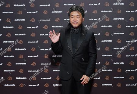 Japanese director Kore-eda Hirokazu poses on the red carpet at the 56th Golden Horse Awards in Taipei, Taiwan