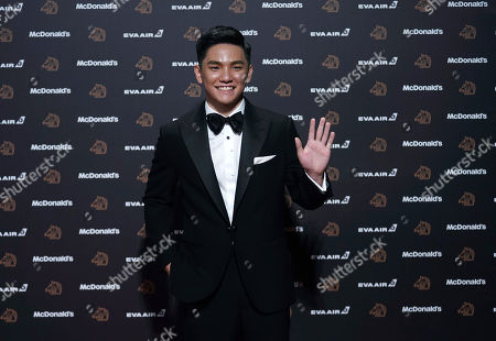 """Stock Image of Singapore actor Koh Jia-ler arrives at the 56th Golden Horse Awards in Taipei, Taiwan, . Koh is nominated for Best Supporting Actor for the film """"Wet Season"""" at this year's Golden Horse Awards -one of the Chinese-language film industry's biggest annual events"""