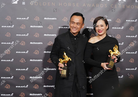 "Yeo Yann-yann, Chen Yi-wen. Malaysian actress Yeo Yann-yann, right, and Taiwanese actor Chen Yi-wen hold their awards for Best Supporting Actress and Best Supporting Actor at the 56th Golden Horse Awards in Taipei, Taiwan, . Yeo won for the film ""Wet Season"" and Chen for the film ""A Sun"" at this year's Golden Horse Awards -the Chinese-language film industry's biggest annual events"
