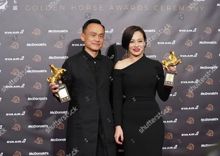 "Stock Picture of Yeo Yann-yann, Chen Yi-wen. Malaysian actress Yeo Yann-yann, right, and Taiwanese actor Chen Yi-wen hold their awards for Best Supporting Actress and Best Supporting Actor at the 56th Golden Horse Awards in Taipei, Taiwan, . Yeo won for the film ""Wet Season"" and Chen for the film ""A Sun"" at this year's Golden Horse Awards -the Chinese-language film industry's biggest annual events"