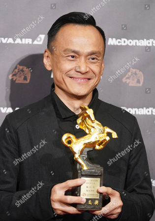 "Taiwanese actor Chen Yi-wen holds his award for Best Leading Actor at the 56th Golden Horse Awards in Taipei, Taiwan, . Chen won for the film "" A Sun "" at this year's Golden Horse Awards -the Chinese-language film industry's biggest annual events"