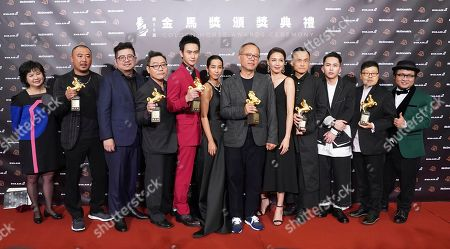 "Chen Yi-wen, Chung Mong-hong, Liu Kuan-ting. Team members of movie "" A Sun "" hold their awards for press at the 56th Golden Horse Awards in Taipei, Taiwan, . they won include Best Director, Best Leading Actor, and Best Narrative Feature at this year's Golden Horse Awards -the Chinese-language film industry's biggest annual events"