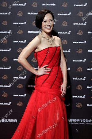 Malaysian actress Yeo Yann-yann poses for photographs at the 56th Golden Horse Awards ceremony in Taipei, Taiwan, 23 November 2019. The film awards established in 1962 are presented to filmmakers working in Chinese-language cinema.