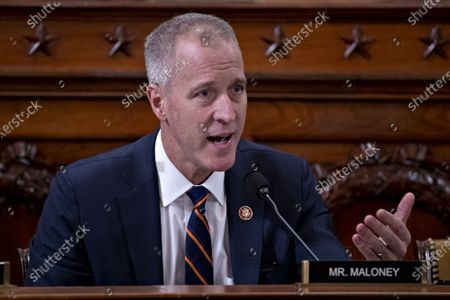 United States Representative Sean Patrick Maloney (Democrat of New York) questions witnesses during a US House Intelligence Committee impeachment inquiry hearing