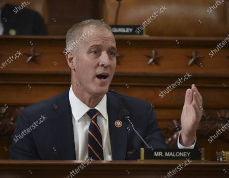 United States Representative Sean Patrick Maloney (Democrat of New York) directs a question to Dr. Fiona Hill, former senior Director for Europe and Russia, National Security Council, during the US House Intelligence committee impeachment inquiry, in Washington, DC.