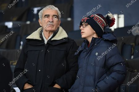 Raymond Domenech and his son