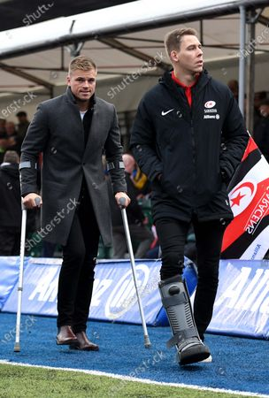 Stock Photo of Gareth Anscombe and Liam Williams before kick off.