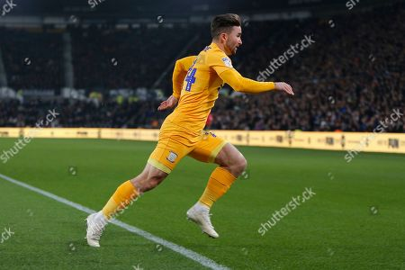 Sean Maguire in action during the EFL Sky Bet Championship match between Derby County and Preston North End at the Pride Park, Derby