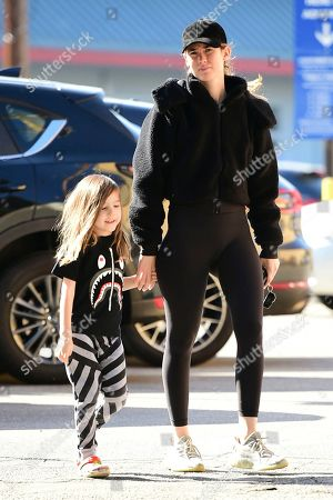 Editorial image of Meagan Camper and son Saint Wentz out and about, Los Angeles, USA - 22 Nov 2019