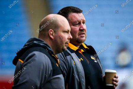 Wasps Director of Rugby Dai Young and Wasps Team Manager Dave Bassett