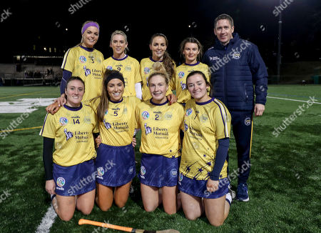 2018 Team vs 2019 Team. The 2019 team's (L to R) Sarah Dervan, Niamh Kilkenny, Noreen Coen, Aoife Donohue, Ailish O'Reilly, Heather Cooney, Shauna Healy, Sarah Healy with manager Cathal Murray