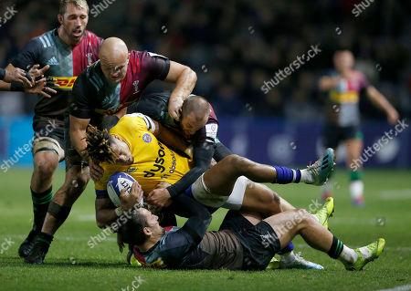 Editorial photo of Harlequins v Bath, Rugby Union, Heineken European Cup, The Stoop, Twickenham, London, UK - 23/11/2019