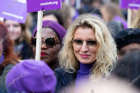 Alexandra Lamy at the Violence against woman protest
