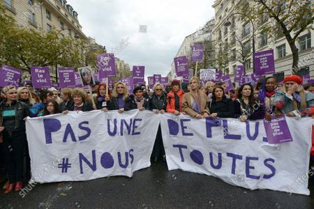 Editorial photo of Domestic violence protest, Paris, France - 23 Nov 2019