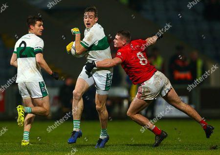 Stock Image of Portlaoise (Laois) vs Eire Og (Carlow). Portlaoise's Kieran Lillis and Jordan Morrissey of Eire Og