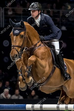 Ben Maher of Great Britain rides his horse 'Explosion W' during the Longines Global Champions Tour Super Grand Prix competition in Prague, Czech Republic, 23 November 2019.