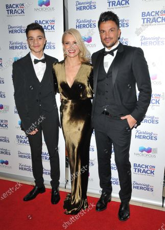 Stock Picture of Junior Andre, Melinda Messenger and Peter Andre