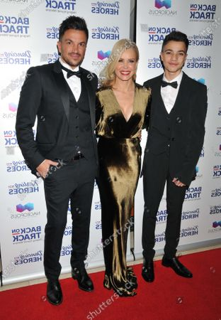 Stock Photo of Peter Andre, Melinda Messenger and Junior Andre