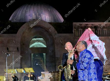 Editorial image of Coldplay perform for album launch in Amman, Jordan - 23 Nov 2019