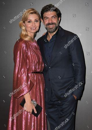 Stock Picture of Anna Ferzetti and Pierfrancesco Favino