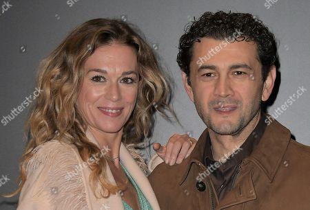 Milena Mancini and Vinicio Marchioni
