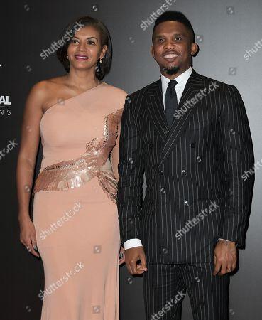 Stock Image of Georgette Eto'o and Samuel Eto'o
