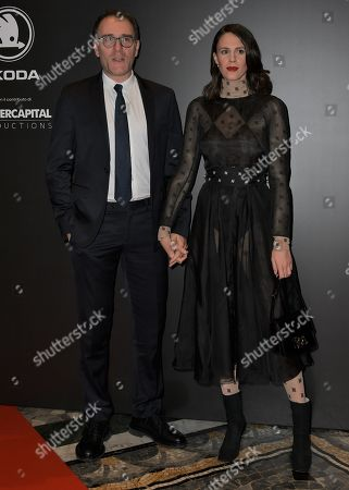 Stock Image of Valerio Mastrandrea and Chiara Martegiani