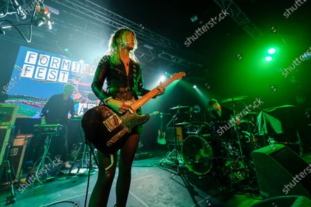 Editorial image of The Joy Formidable in concert at The Tramshed, Cardiff, Wales, UK - 23 Nov 2019