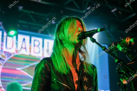 Editorial photo of The Joy Formidable in concert at The Tramshed, Cardiff, Wales, UK - 23 Nov 2019