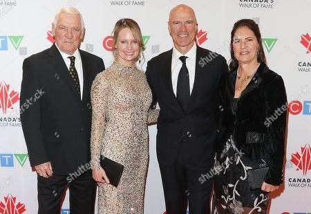 Doug Messier, Kim Clark, Mark Messier and Mark-Kay Messier