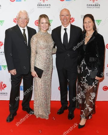 Stock Picture of Doug Messier, Kim Clark, Mark Messier and Mark-Kay Messier