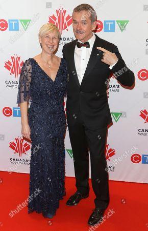 Stock Image of Helene Hadfield and Chris Hadfield