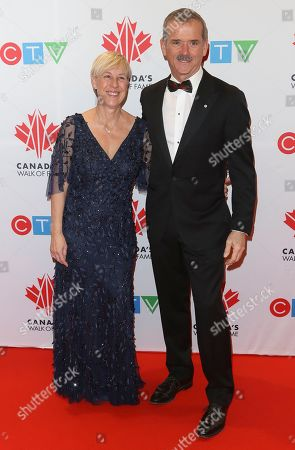 Helene Hadfield and Chris Hadfield