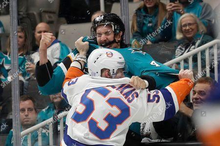 Editorial picture of Islanders Sharks Hockey, San Jose, USA - 23 Nov 2019