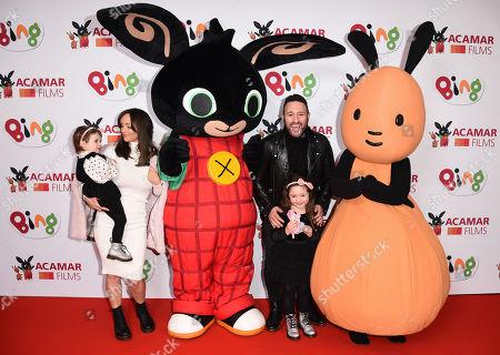 Stock Image of Antony Costa, Rosanna Jasmin and children Savannah and Paloma
