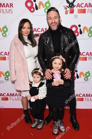 Antony Costa, Rosanna Jasmin and children Savannah and Paloma