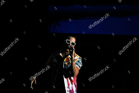 De La Ghetto, Rafael Castillo. Singer De La Ghetto performs during the Coca-Cola Flow Reggaeton festival in Mexico City